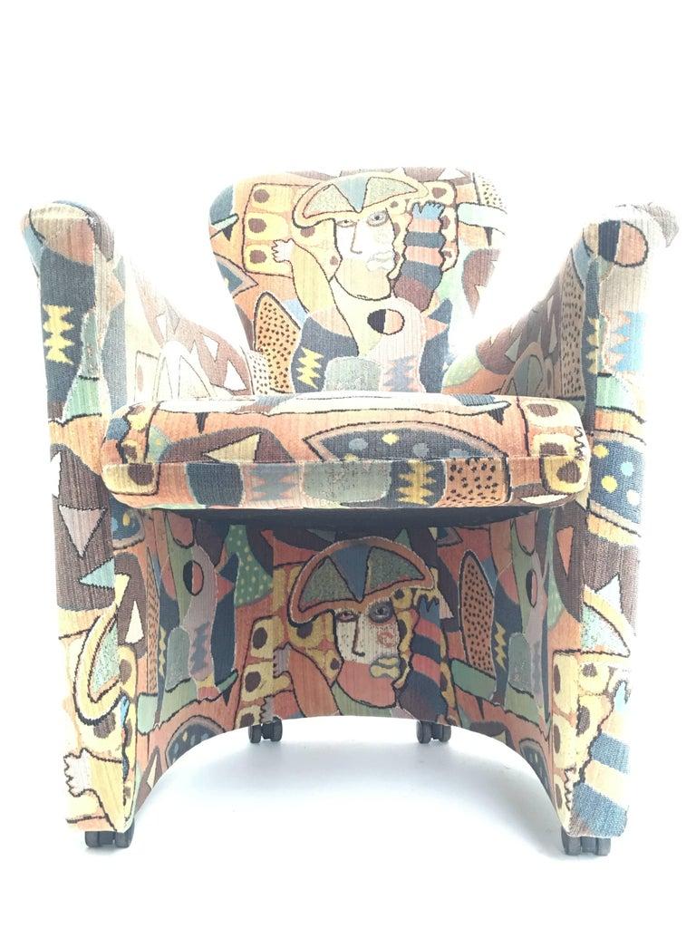 Post-Modern 'Amphora' Armchair by Frans Schrofer & Artist Clemens Briels for Leolux , 1995 For Sale