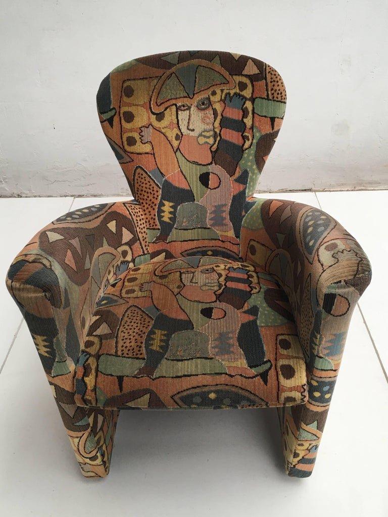 Late 20th Century 'Amphora' Armchair by Frans Schrofer & Artist Clemens Briels for Leolux , 1995 For Sale