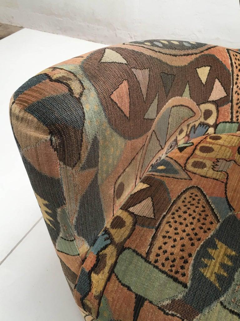 'Amphora' Armchair by Frans Schrofer & Artist Clemens Briels for Leolux , 1995 For Sale 1