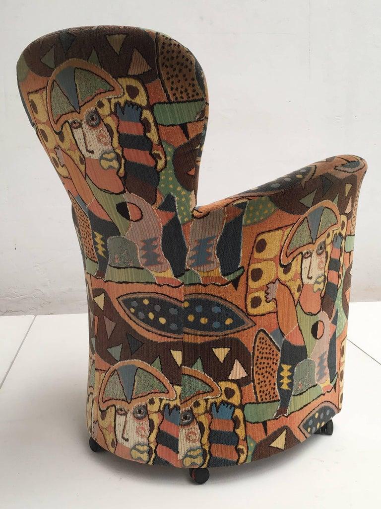 Dutch 'Amphora' Armchair by Frans Schrofer & Artist Clemens Briels for Leolux , 1995 For Sale
