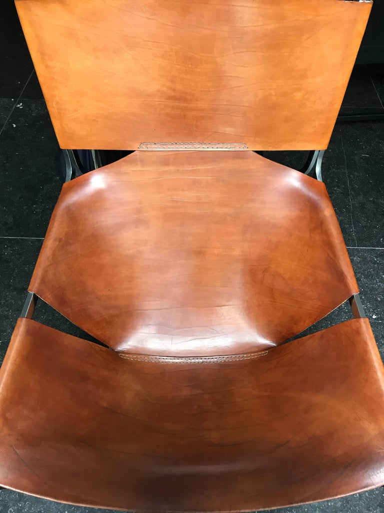 Stunning Original Saddle Leather Pierre Paulin F444 Lounge Chair for Artifort 2