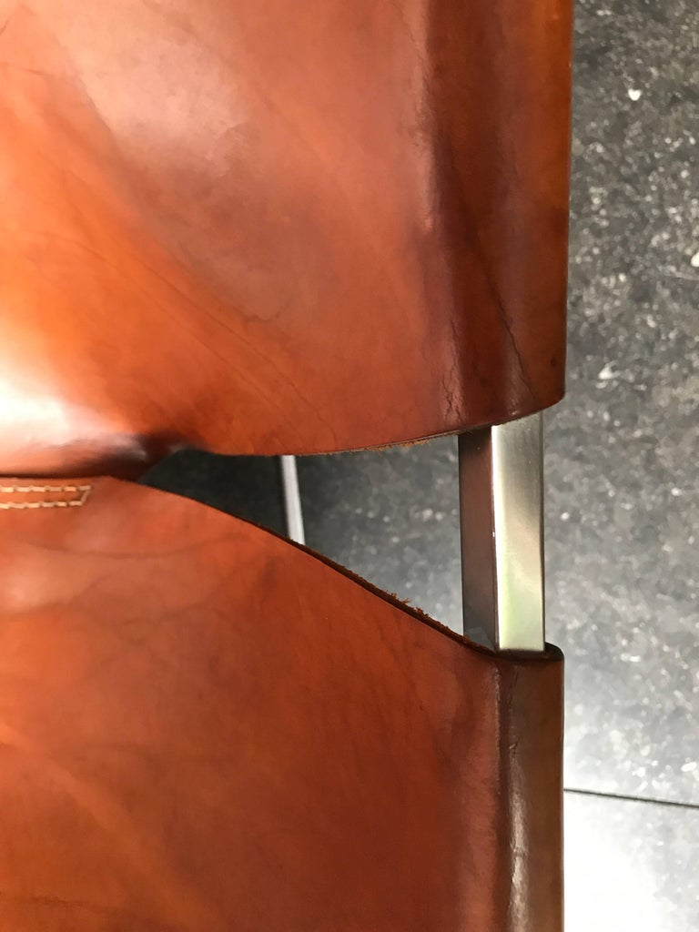 Stunning Original Saddle Leather Pierre Paulin F444 Lounge Chair for Artifort 7