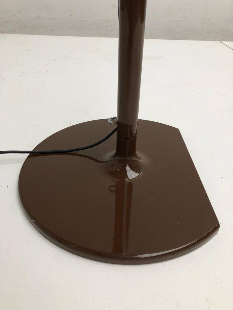 Joe Colombo Extra Large Arched Coupe Floor Lamp by O-Luce, 1970 Production For Sale 1