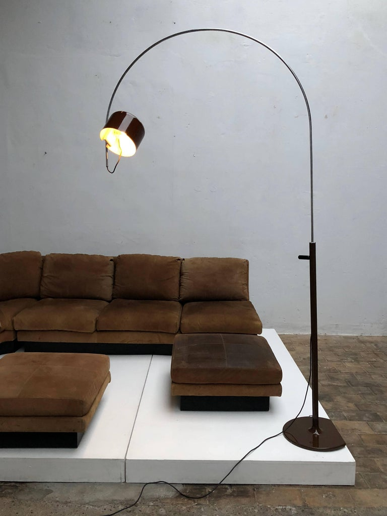 Joe Colombo Extra Large Arched Coupe Floor Lamp By O Luce