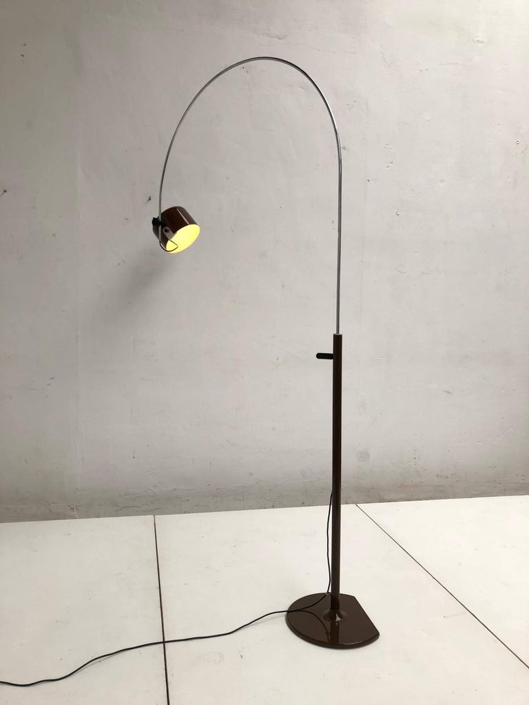 Joe Colombo Extra Large Arched Coupe Floor Lamp by O-Luce, 1970 Production For Sale 2