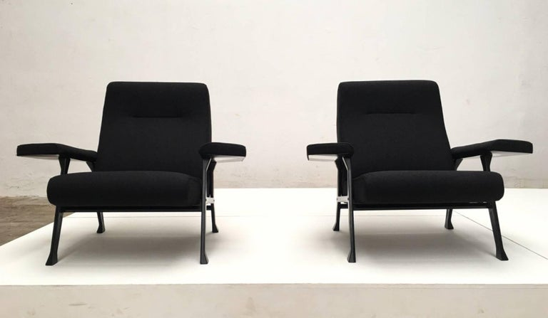 Italian Rare Roberto Menghi 'Hall' Lounge Chairs, Arflex ,1958, 'Compasso D'oro', 1959 For Sale