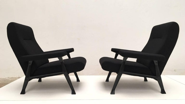 Cast Rare Roberto Menghi 'Hall' Lounge Chairs, Arflex ,1958, 'Compasso D'oro', 1959 For Sale