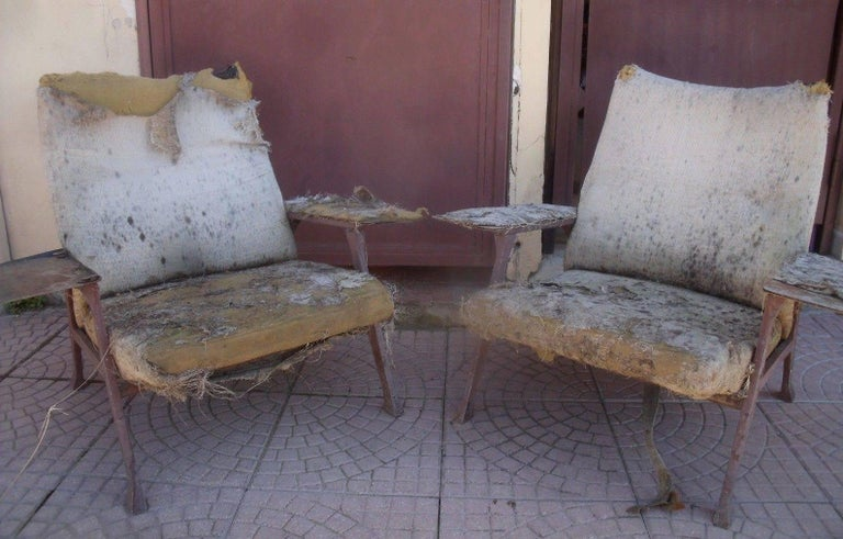 Rare Roberto Menghi 'Hall' Lounge Chairs, Arflex ,1958, 'Compasso D'oro', 1959 For Sale 2