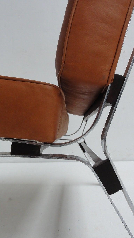 Italian Beautiful Ico Parisi '856' Leather Lounge Chairs, Cassina, 1957 For Sale