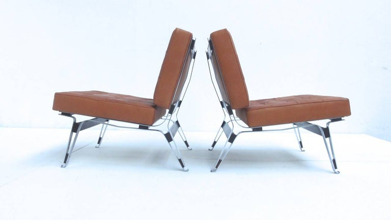 Beautiful Ico Parisi '856' Leather Lounge Chairs, Cassina, 1957 For Sale 1