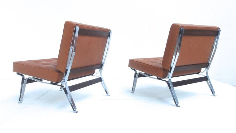 Beautiful Ico Parisi '856' Leather Lounge Chairs, Cassina, 1957 For Sale 2