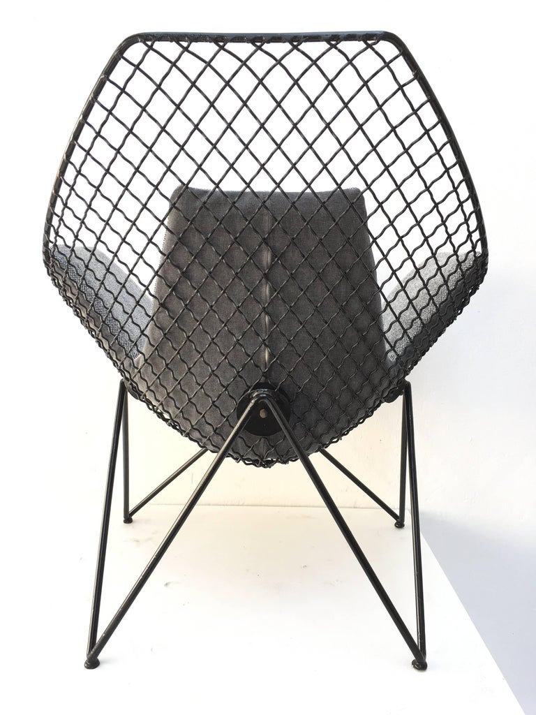 Italian Rare and Beautiful Sculptural 'DU43' Lounge Chair by Gastone Rinaldi, Rima, 1953 For Sale