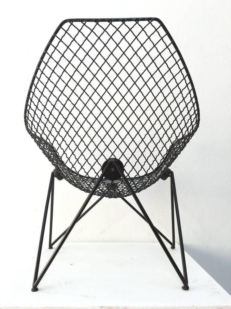 Enameled Rare and Beautiful Sculptural 'DU43' Lounge Chair by Gastone Rinaldi, Rima, 1953 For Sale