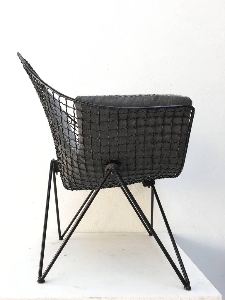Steel Rare and Beautiful Sculptural 'DU43' Lounge Chair by Gastone Rinaldi, Rima, 1953 For Sale