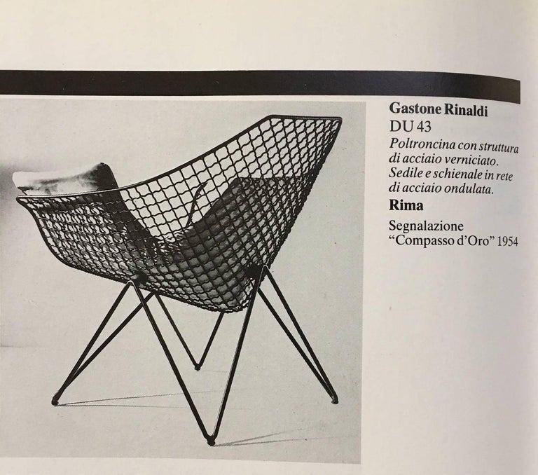 Rare and Beautiful Sculptural 'DU43' Lounge Chair by Gastone Rinaldi, Rima, 1953 For Sale 2