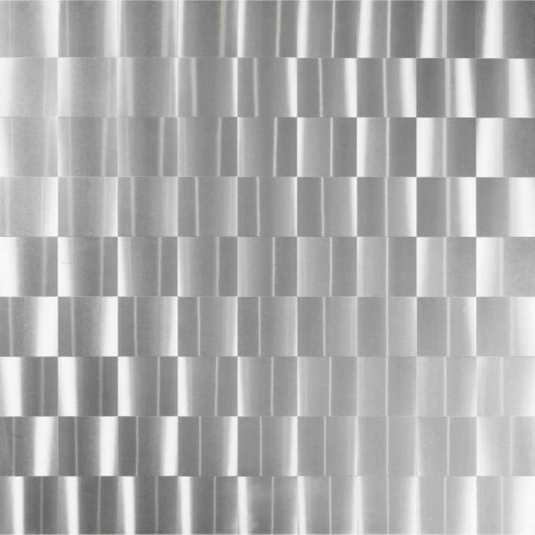 Stainless Steel 'Luar' Op Art Dining Table by Ross Littell for ICF For Sale 2