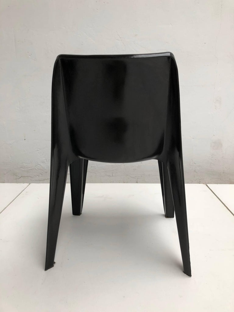 Fiberglass Six Black Space Age BA 1171 Chairs by Helmut Bätzner for Bofinger, Germany, 1964 For Sale
