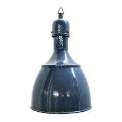 Blue Enamel Vintage Industrial Pendants Hanging Lights NOS (18x)