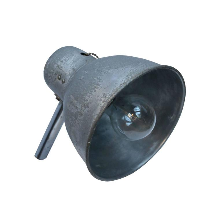 Gooseneck Wall, Metal Work Light with Flexible Arm (2x) For Sale at 1stdibs