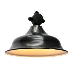 Black Industrial Factory Pendant Enamel Bakelite Top (84x)