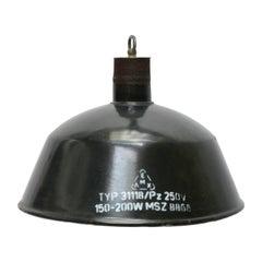 Black Gray Enamel Industrial Factory Pendant Light