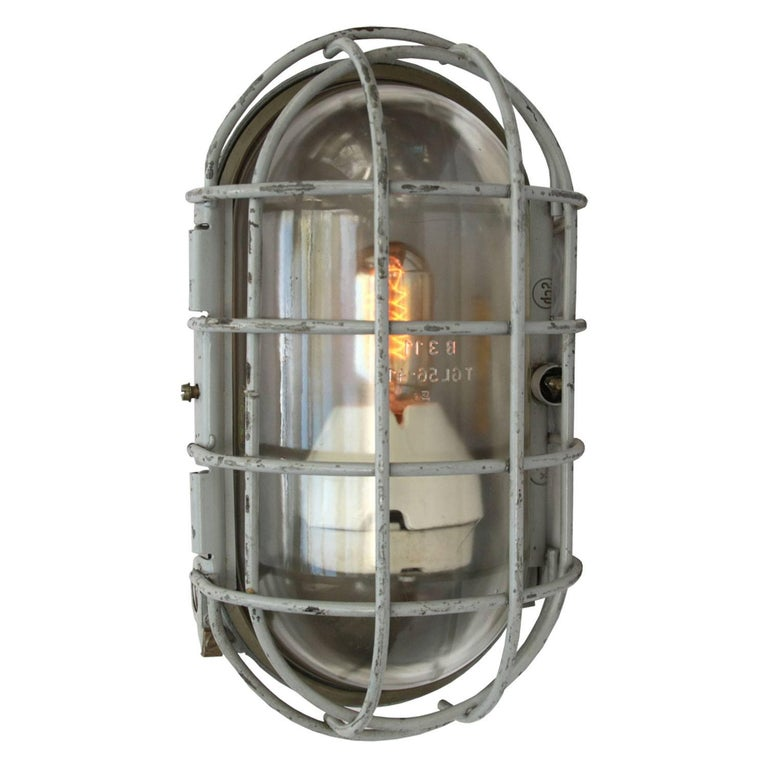 Vintage Grey Wall Lights : Gray Metal Vintage Industrial Wall Ceiling Lamp Scone (2x) at 1stdibs