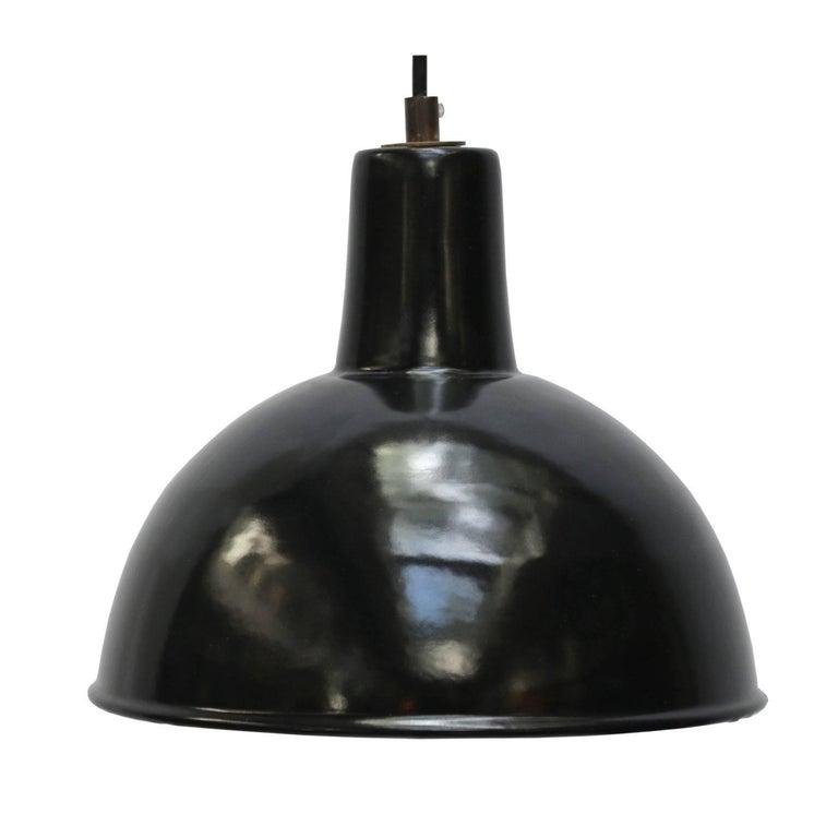Black Enamel Vintage Industrial Factory Pendant Hanging Lights (5x)