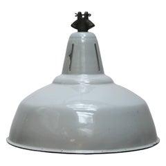Light Gray Enamel Vintage Industrial Philips Hanging Lamp
