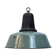 Petrol Vintage Industrial Enamel Cast Iron Pendant Light