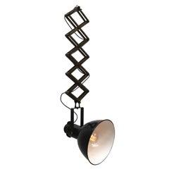 Vintage Industrial Scissor Light with Black Enamel Hanging Lamps (69x)