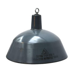 Blue Enamel Vintage Industrial Hanging Light Pendant Lamp