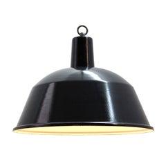 Black Dark Gray Vintage Enamel Industrial Pendant Lamps NOS (119x)