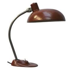 Brown Vintage Metal Desk Light