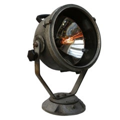 Gray Vintage Industrial Cast Aluminium Clear Glass Ship Spot Light