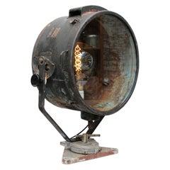 Black Metal Vintage Industrial Clear Glass Spot Light