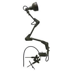 British Metal Vintage Industrial Amry Work Lights (2x)