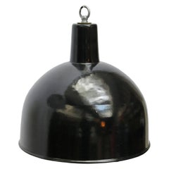 Black Enamel Vintage Industrial Factory Hanging Light Pendants (13x)