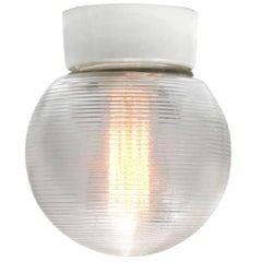 German Porcelain Vintage Industrial Halophane Glass Wall Lamp Sconces (11x)
