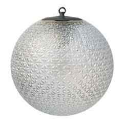 Clear Glass Vintage European Metal Top Pendant Lights (2x)