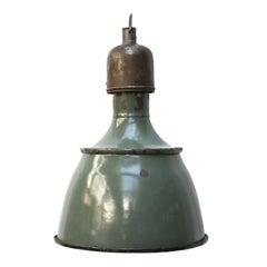 Petrol Vintage Enamel Industrial Factory Pendant