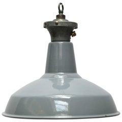 Gray Enamel British Vintage Industrial Pendant Lights (247x)