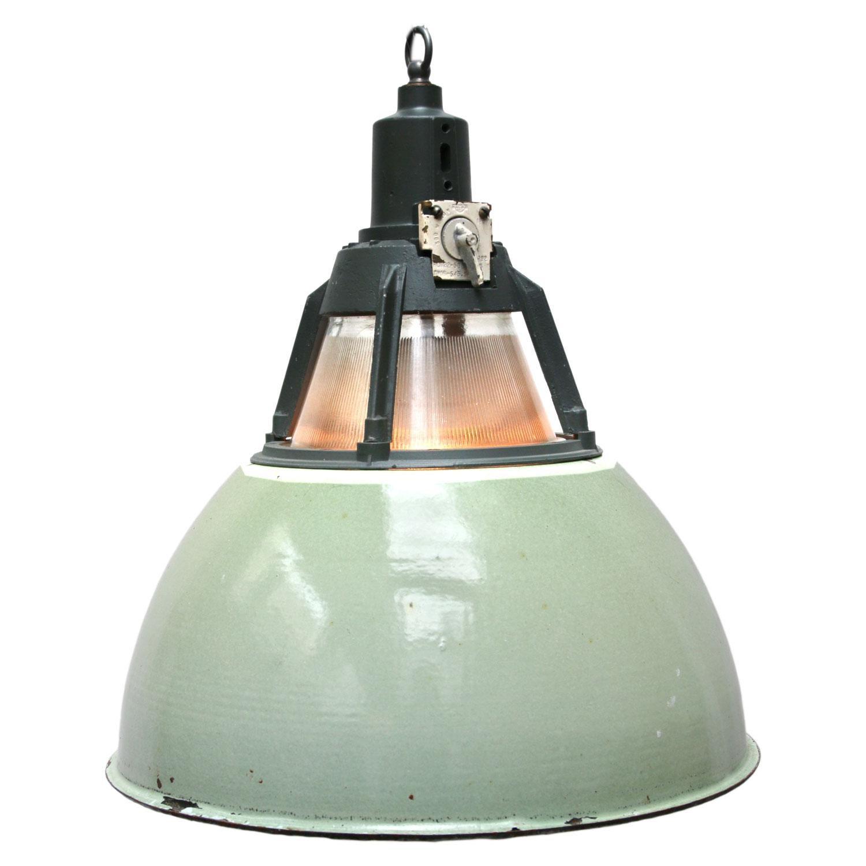 Pendant lighting vintage Rope Green Vintage Industrial Holophane Glass Pendant Lights 2x For Sale 1stdibs Green Vintage Industrial Holophane Glass Pendant Lights 2x For