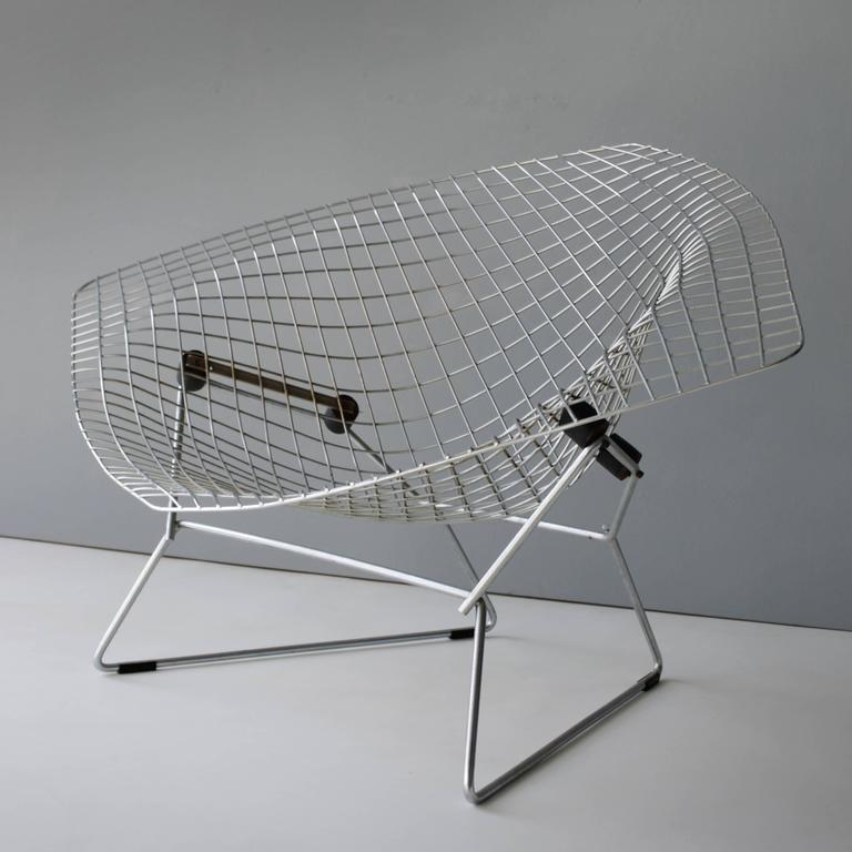Large Diamond Chair By Harry Bertoia For Knoll 3