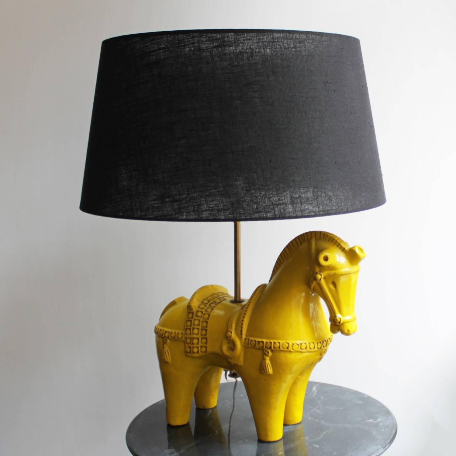 Horse Lamp By Aldo Londi For Bitossi Italy For Sale At