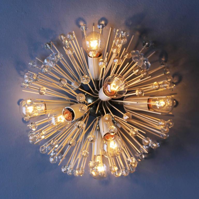Mid-Century Modern Stejnar Flush Mount 'Dandelion' Chandelier for Rupert Nikoll For Sale
