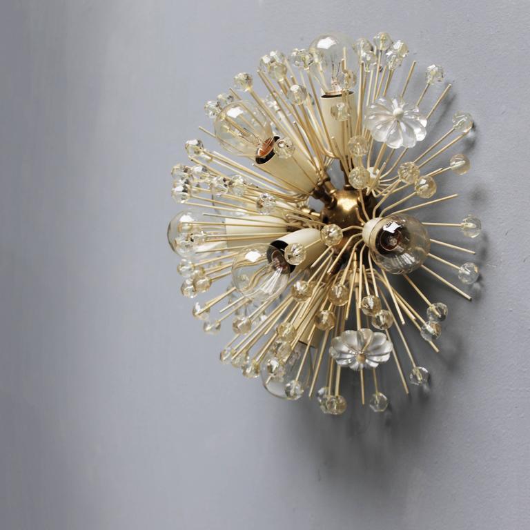 Mid-20th Century Stejnar Flush Mount 'Dandelion' Chandelier for Rupert Nikoll For Sale