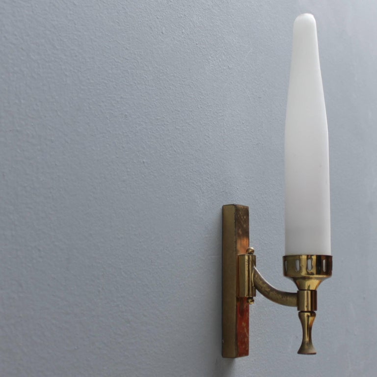 Mid-Century Modern Pair of Italian Sconces Attributed to Arredoluce For Sale