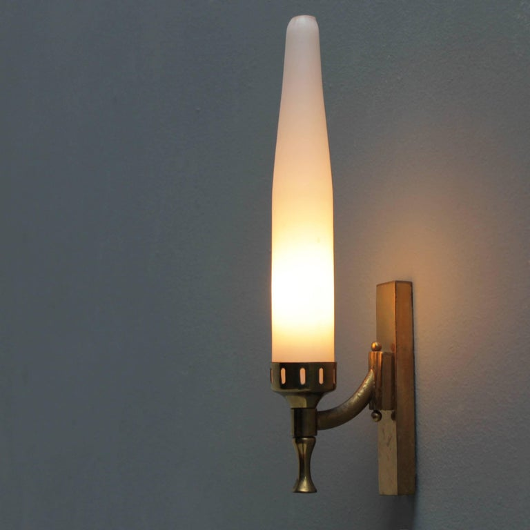 Pair of Italian Sconces Attributed to Arredoluce For Sale 1