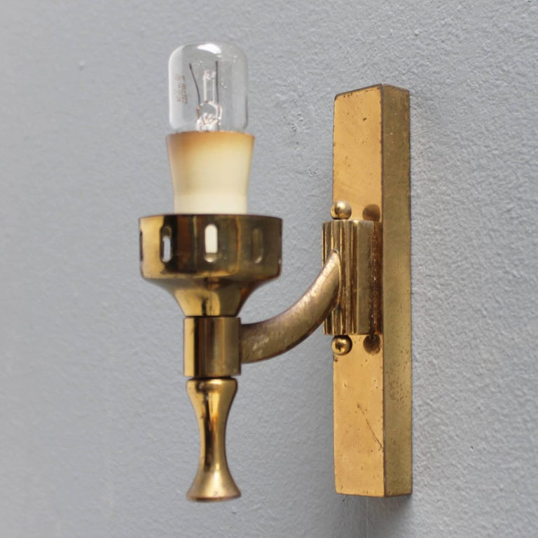 Mid-20th Century Pair of Italian Sconces Attributed to Arredoluce For Sale