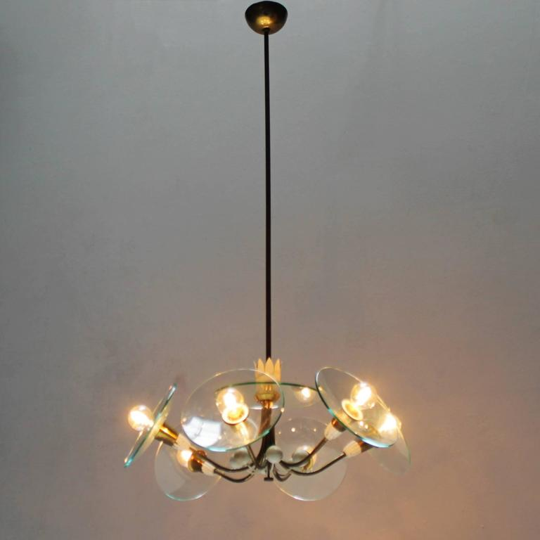 chandelier in the style of pietro chiesa italy for sale. Black Bedroom Furniture Sets. Home Design Ideas